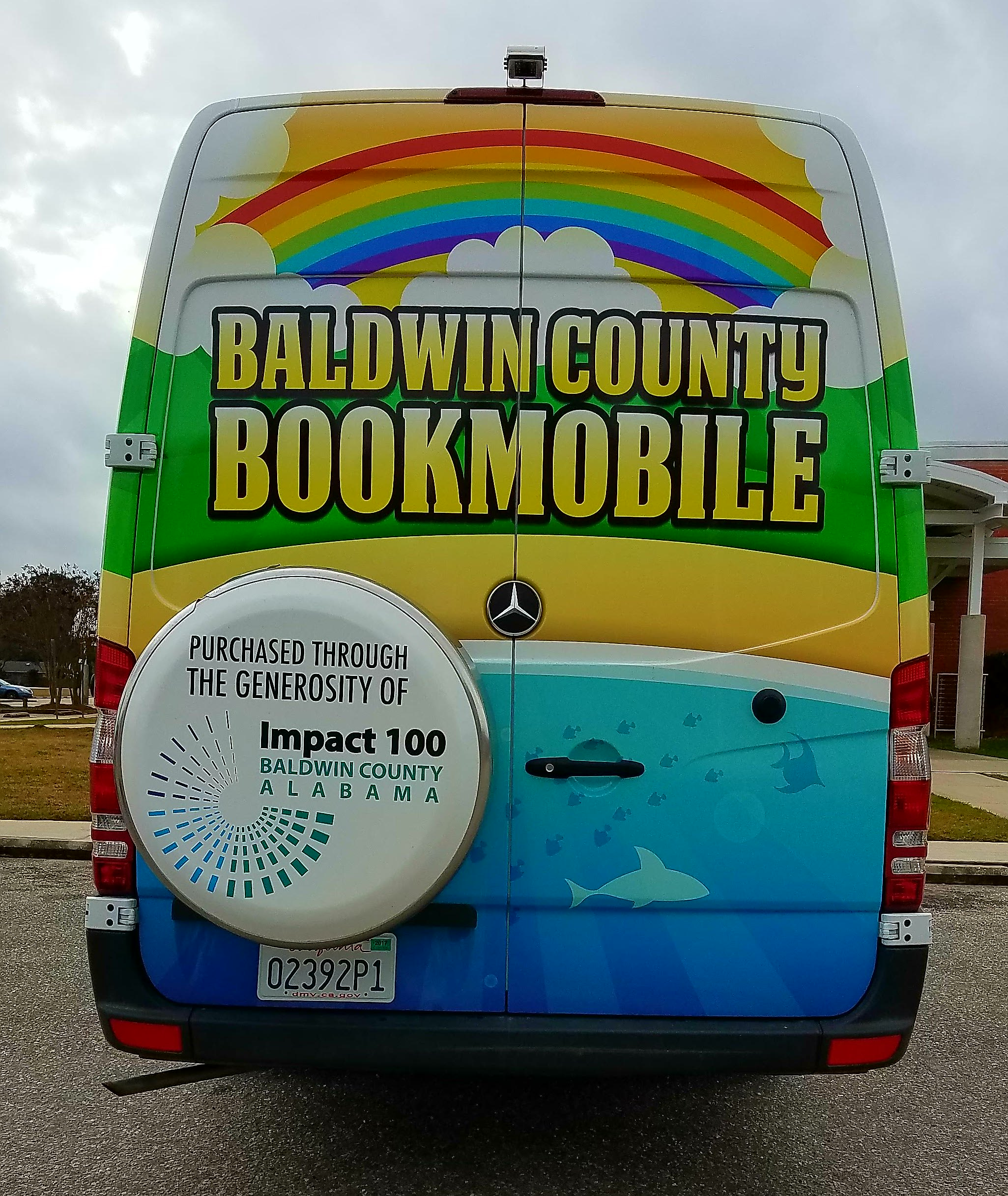 rear of bookmobile